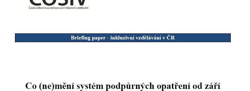 Co (ne)mění systém podpůrných opatření od září 2016