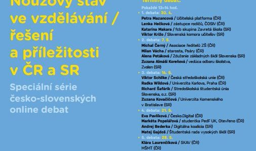 Česko-slovenské online debaty o vzdělávání