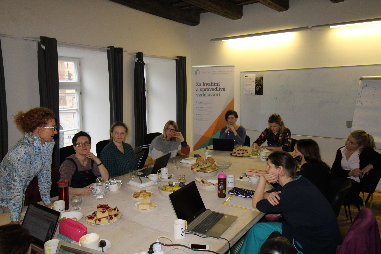 První setkání s lektorkami z partnerské organizace v Praze