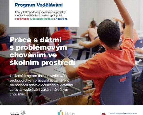 Tisková zpráva a leták k projektu Práce s dětmi s problémovým chováním ve školním prostředí