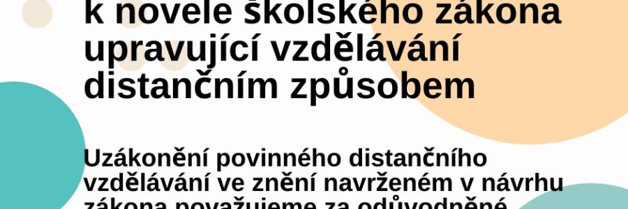 Stanovisko ČOSIV k novele školského zákona upravující vzdělávání distančním způsobem