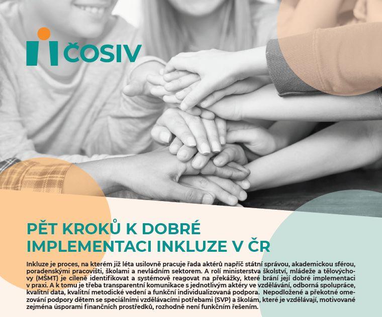 Pět kroků k dobré implementaci inkluze v ČR