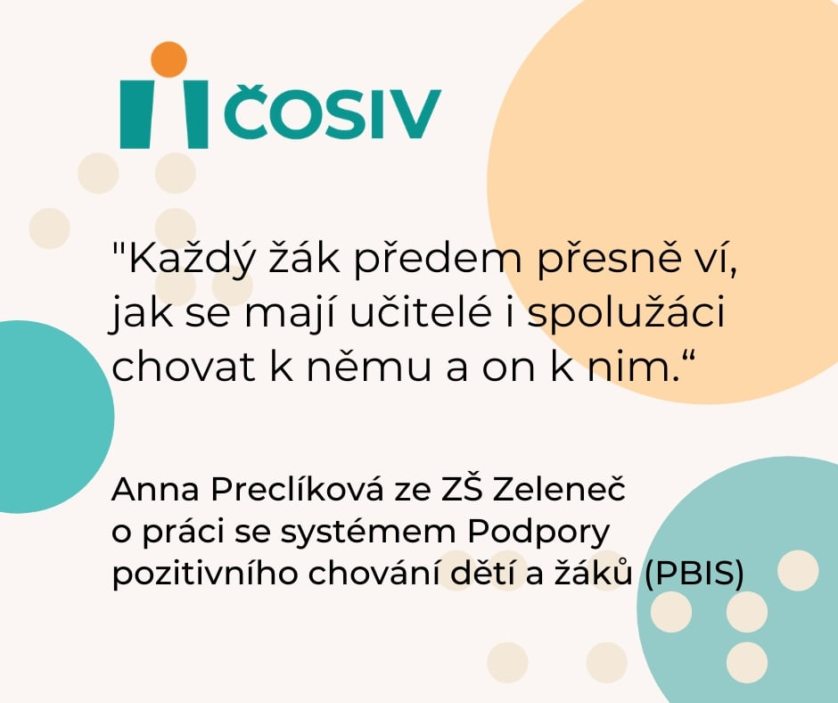 Deník.cz writes about the Czech pilot implementation of PBIS