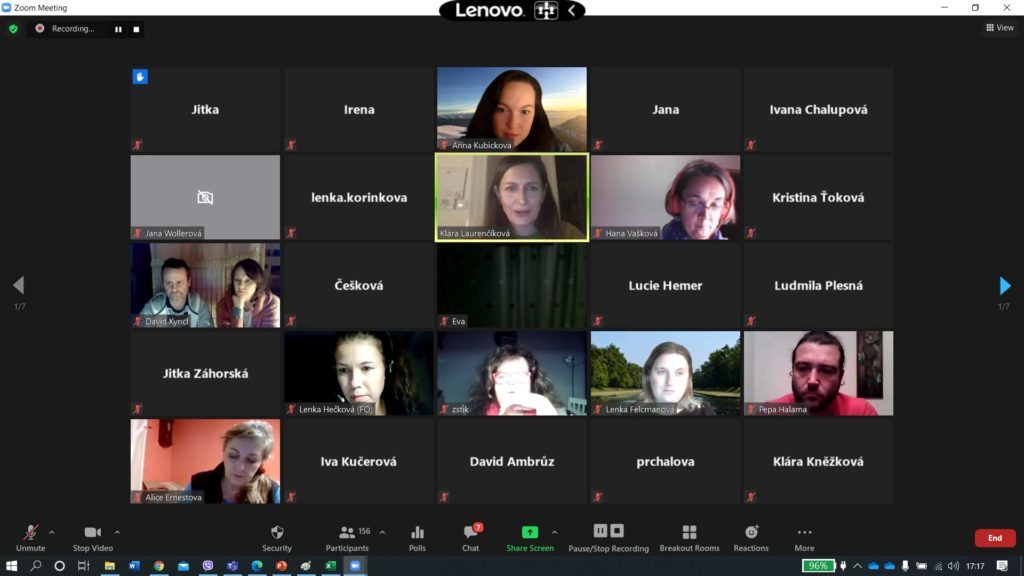 Recording of the 1st online meeting for school counsellors and special educators