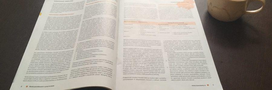 Článek o Pozitivní podpoře chování PBIS