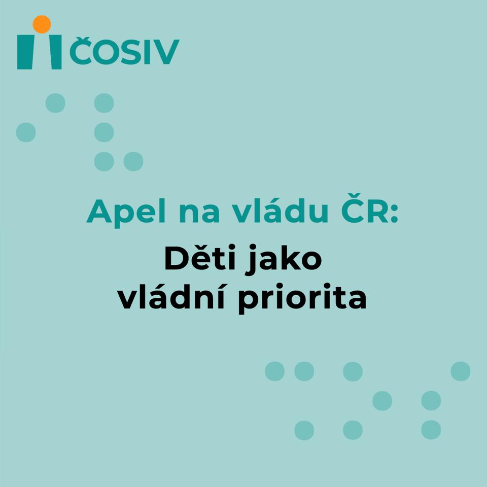 Apel na vládu ČR: Děti jako vládní priorita