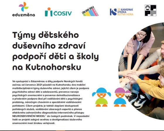 Hledáme odborníky a manažery do týmů dětského duševního zdraví na Kutnohorsku