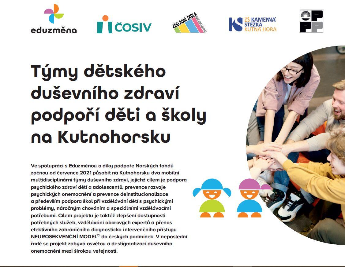 Týmy dětského duševního zdraví podpoří děti a školy na Kutnohorsku