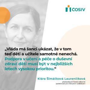 TZ: ČOSIV představil plán pro mírnění negativních dopadů pandemie na vzdělávání a duševní zdraví dětí