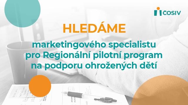 Hledáme marketingového specialistu pro Regionální pilotní program
